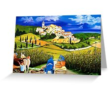 HARVEST THE GRAPES Greeting Card