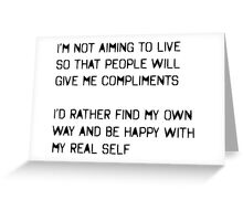 My Real Self Greeting Card
