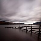 Fence in Derwentwater - Square Crop by Nick Tsiatinis