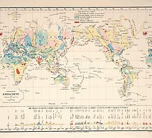 Atlas zu Alex V Humbolt's Cosmos 1851 0148 Earth Geological Map by wetdryvac
