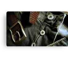 Denim & Leather - Product shot Canvas Print