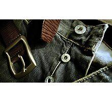 Denim & Leather - Product shot Photographic Print
