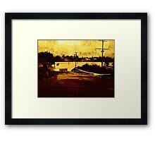 Road Closed.....Road Flooded Framed Print