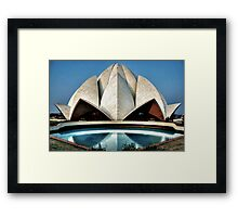 The expressionistic Lotus temple Framed Print