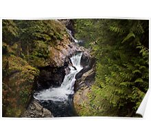 Twin Falls, Snoqualmie River, Washington Poster