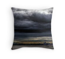 The Storm Has Broken--Hudson River Clouds HDR Throw Pillow