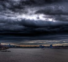 The Storm Has Broken--Hudson River Clouds #2 HDR by Dave Bledsoe