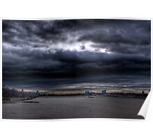 The Storm Has Broken--Hudson River Clouds #2 HDR Poster