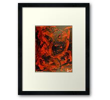 Evil Pac-man(Abstract)©  Framed Print