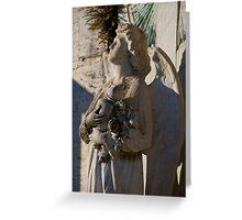 Italian cemetery angel Greeting Card