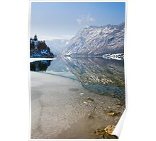 Reflections of an Alpine lake Poster