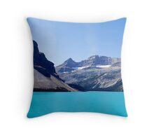 Water Mountain Sky Throw Pillow