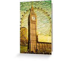 Grungy Big Ben: London UK Greeting Card