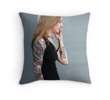 Tattoo candid Throw Pillow