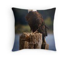 Eagle on the Fraser Throw Pillow