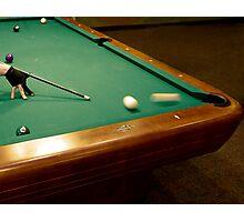 Pool Shark - #1 Ball, Corner Pocket Photographic Print