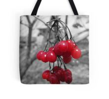Red Clump of Berries Tote Bag
