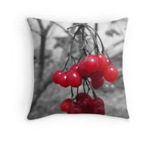 Red Clump of Berries Throw Pillow