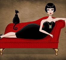 red couch by vian