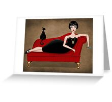 red couch Greeting Card