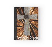 Lord's prayer cross with fireworks Hardcover Journal