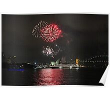Harbour fireworks after earth hour Poster