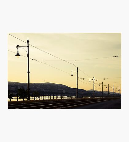 Tracks along the Danube Photographic Print