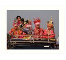 Young Shan boys Art Print