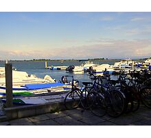 Bicycles and Boats  Photographic Print