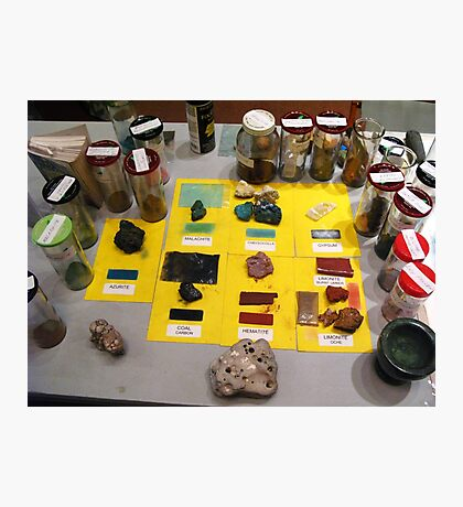 Many colors of Minerals  Demo - for Kevin Photographic Print
