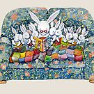 bunny bed time by vian