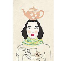 Green Tea Girl Photographic Print