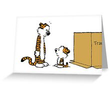 hobbes twin Greeting Card