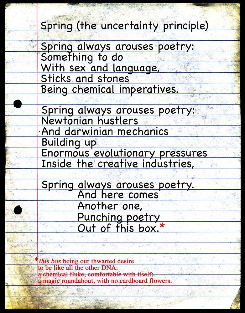 Spring (the uncertainty principle) by Bjondon