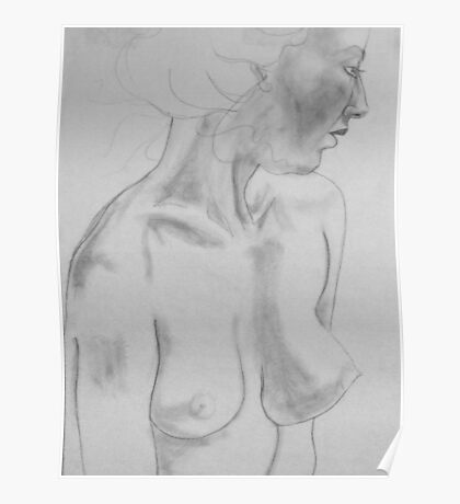 female nude.... pencil study #1 Poster