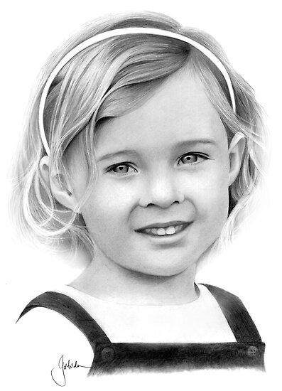 Little Lady (Pencil) by Jo Holden