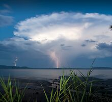 Storm over the bay  by Michael Howard