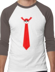 Pokeball Tie Tee Men's Baseball ¾ T-Shirt