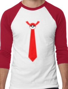 Pokeball Tie Tee Men's Baseball ¾ T-Shirt
