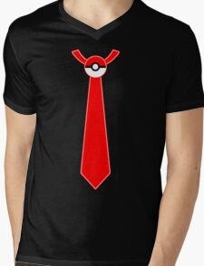 Pokeball Tie Tee Mens V-Neck T-Shirt