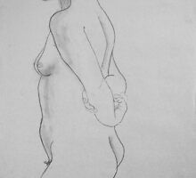 female nude.... pencil study #3 by Juilee  Pryor