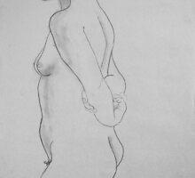 female nude.... pencil study #3 by Juilee  Pryor