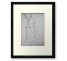 female nude.... pencil study #3 Framed Print