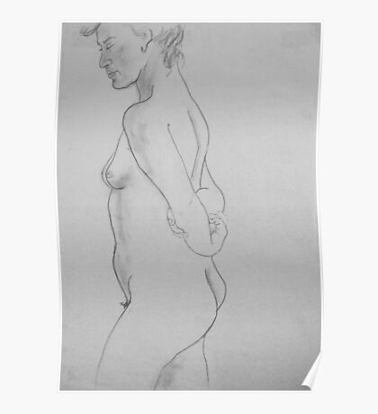 female nude.... pencil study #3 Poster