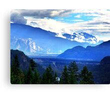 Coast Mountains,Summer Canvas Print