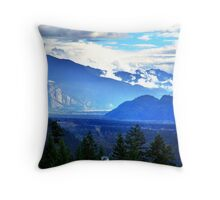 Coast Mountains,Summer Throw Pillow