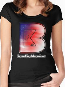 Beyond Kayfabe Podcast - New Beyond 'Murica Women's Fitted Scoop T-Shirt