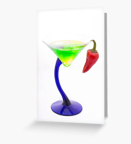 Spicy Martini Greeting Card