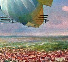 LZ3 Zeppelin Vintage Postcard 1908 Restored Sticker