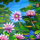 Waterlillies in Japanese Gardens by marlene veronique holdsworth